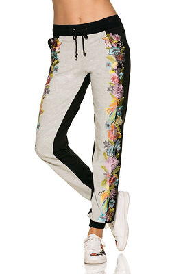 Floral embroidered jogger pant