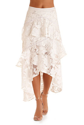 Lace ruffle tiered skirt