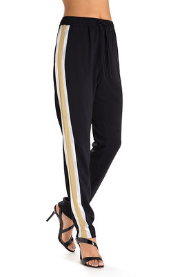 metallic stripe pant
