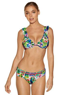 Cactus print two-piece bikini
