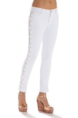Side lace-up jean