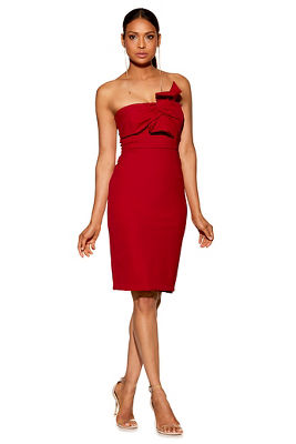 Twist front sheath dress