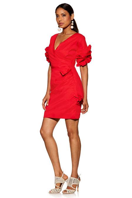 Poplin wrap dress image