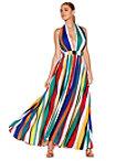 Multicolor Stripe Maxi Dress Photo