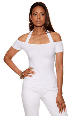 So Sexy™ short sleeve halter top