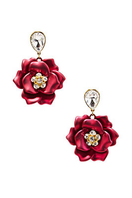 3d floral earrings