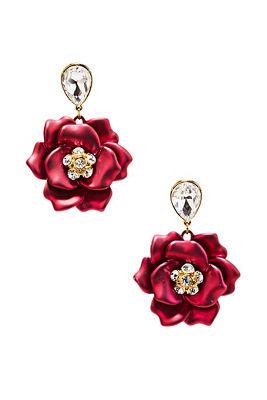 3D floral earrings