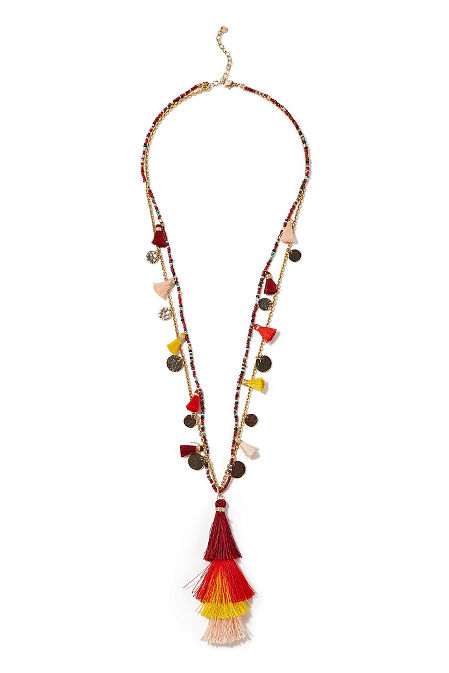Coin and tassel necklace image