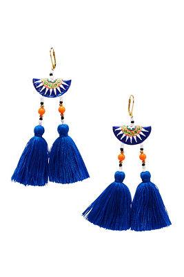 Double tassel dangle earrings
