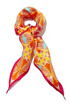 Kaleidoscope print neck scarf
