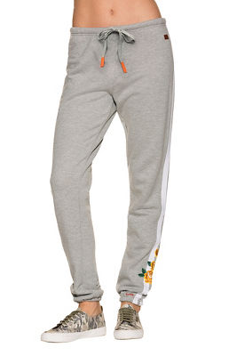Track stripe embroidered jogger pant