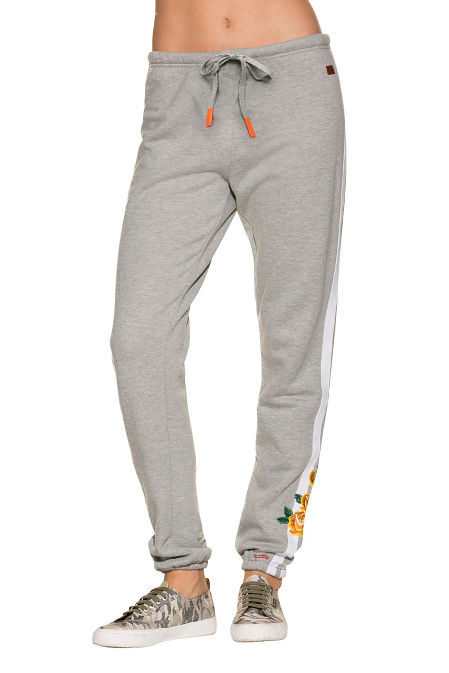Track stripe embroidered jogger pant image