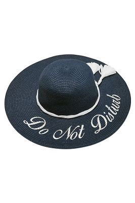 Do not disturb beach hat