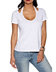 Halter Cutout Slub Boyfriend Tee Photo