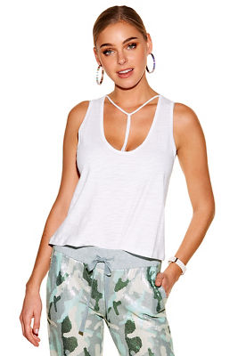 Slub T-bar tank top