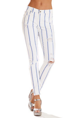 Blue striped jean