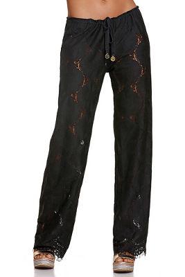 floral lace beach pant
