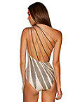 Gold Print One Shoulder One-piece Swimsuit Photo