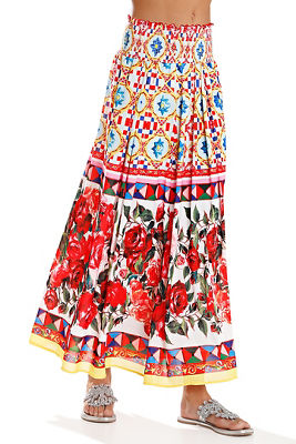 Display product reviews for Mixed print maxi skirt