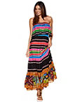Multistripe Strapless Maxi Dress Photo