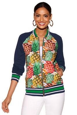 Pineapple bomber jacket