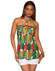 Pineapple Orchid Halter Top Photo