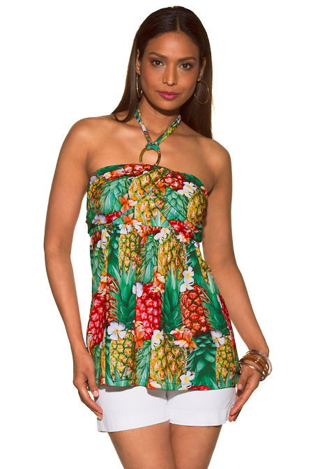 Pineapple orchid halter top image