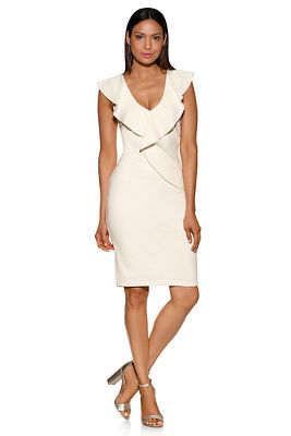 Display product reviews for Ruffle sheath dress