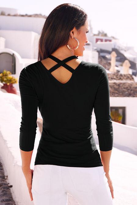 So Sexy™ crisscross neck top image