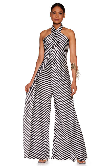 Stripe wide-leg jumpsuit image