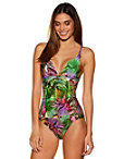 Tropical Macrame One-piece Swimsuit Photo