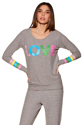 Draped love sweatshirt