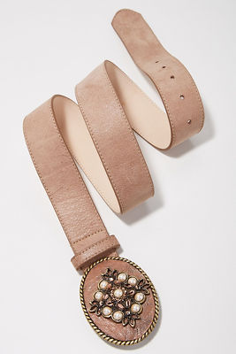 Taupe buckle belt