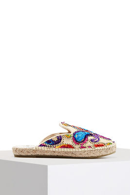 Colorful embroidered slide