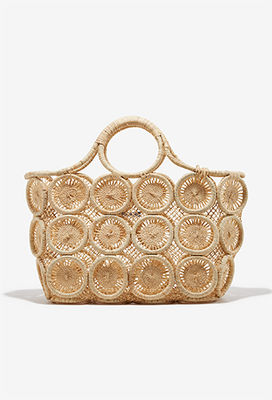 Woven circle beach bag