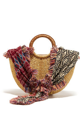 circle handle scarf bag