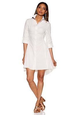 corset side poplin dress