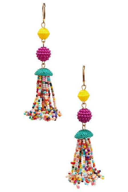 Multicolor beaded earrings image