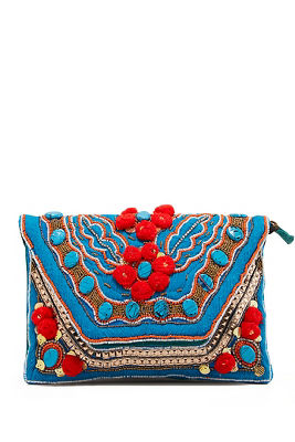 pom and stone clutch