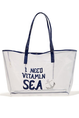 Vitamin sea mesh tote bag