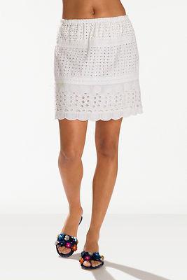 Eyelet mini skirt