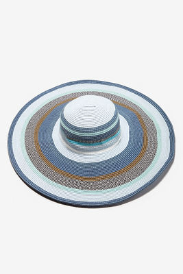 Blue wide-brim hat
