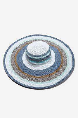 Blue wide-brim hat