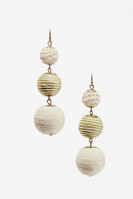 crochet ball earrings