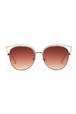 Gold structure sunglasses