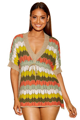 Metallic chevron tunic