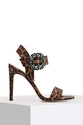Jewel buckle heel