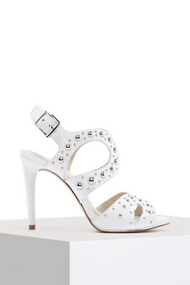 Metal studded heel