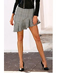 Asymmetric Ruffle Plaid Skirt Photo