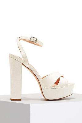 cross front platform heel